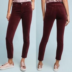 "Anthropologie AG ""The Stevie"" Velvet Jeans"